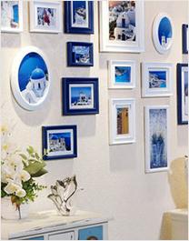 全悦18框实木照片墙创意相片墙