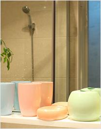 出口原单陶瓷卫浴四件套(橘色)