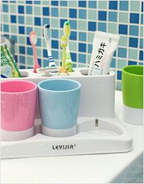 普通型牙刷架(白色,蓝色)