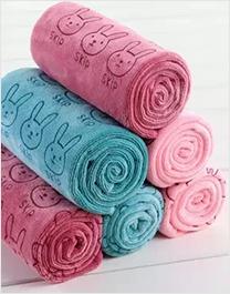 简韵刺绣毛巾2条装(棕)